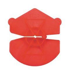 GB Kunststof Isolatie Clip 3,6-4,5 mm oranje/rood
