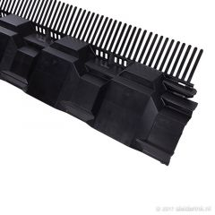 Airtec Combiprofiel 1000 x 125 mm - zwart