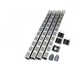 ACO Slimline Starterspakket Aluminium 4 meter