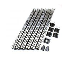 ACO Slimline Starterspakket Aluminium 6 meter