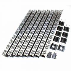 ACO Slimline Starterspakket Aluminium 8 meter