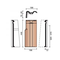 Koramic Modula Gevelpan Links (7080)