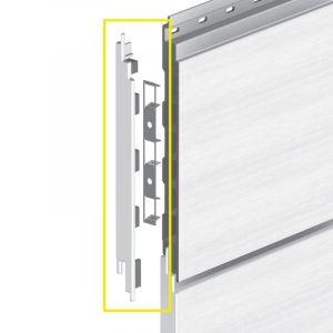Keralit Eindkap links voor sponningdeel 190 mm (bestelnr. 2884)