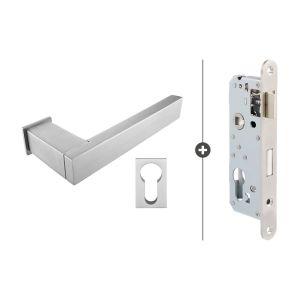 Skantrae Hang- en Sluitwerkpakket Lenox - Cilinderslot - RVS (823)