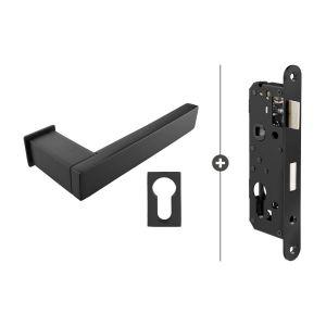 Skantrae Hang- en Sluitwerkpakket Lenox - Cilinderslot - Mat Zwart (824)