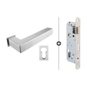 Skantrae Hang- en Sluitwerkpakket Akron - Cilinderslot - RVS (825)