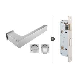 Skantrae Hang- en Sluitwerkpakket Lenox - Vrij- en Bezetslot - RVS (843)