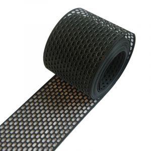 Keralit Geperforeerd Platprofiel Zwart - Rol à 500 cm