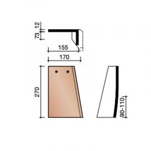 Koramic Leipan 301 Gevelpan Rechts (7090)