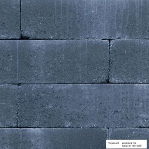 Wallblock Old 15x15x30 cm Antraciet