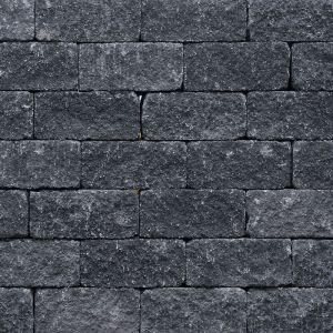 Wallblock Split 12x12x30 cm Antraciet