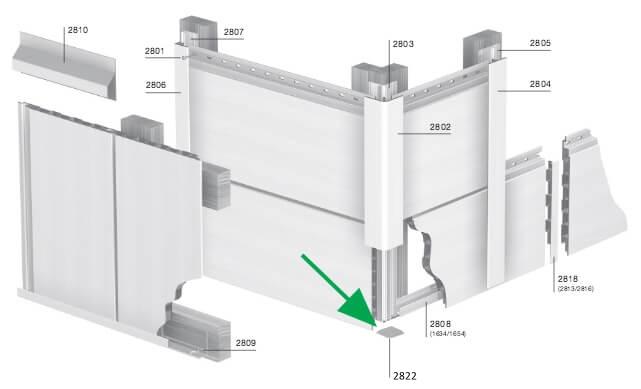 Keralit Eindkap voor Hoekprofiel Recht 46x46 mm