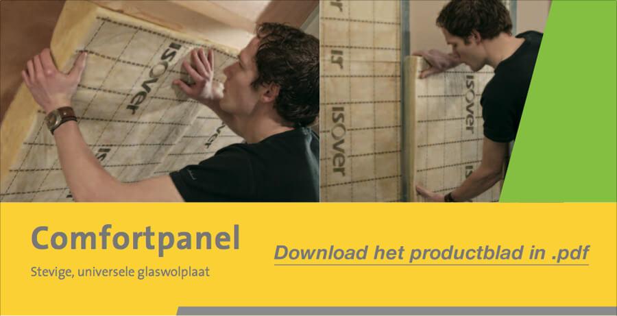 Download het Isover Comfortpanel productblad in .pdf