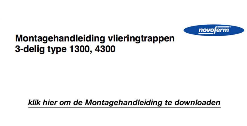 Download het Novoferm 3-delige Houten Vlieringtrap 1300 Montagehandleiding in .pdf