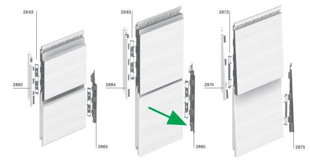 Keralit Eindkap Rechts voor afwerking rechterzijde Sponningdeel 190 mm