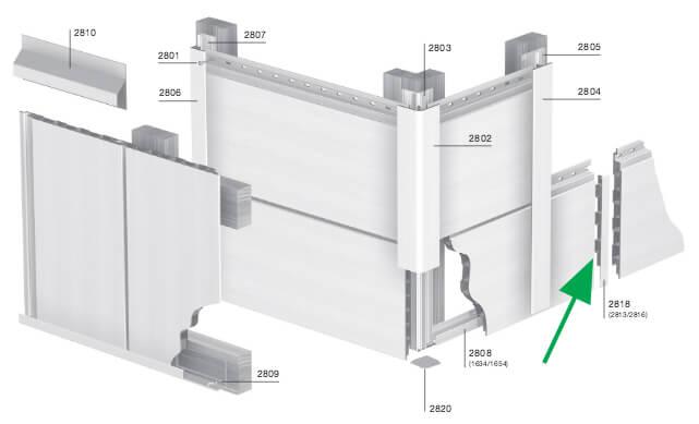 Keralit Verbindingstuk voor de verbinding van sponningdeel 190 mm