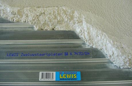 Beton storten op zwaluwstaartvloer