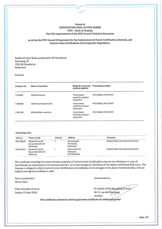 PEFC sleiderink pagina 2 van 2